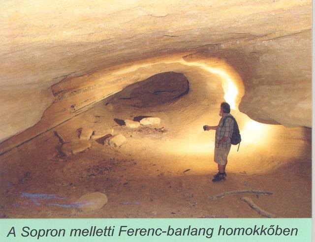 A Sopron melletti Ferenc-barlang homokkőben
